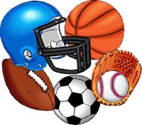 Football, basketball, baseball, soccer ball