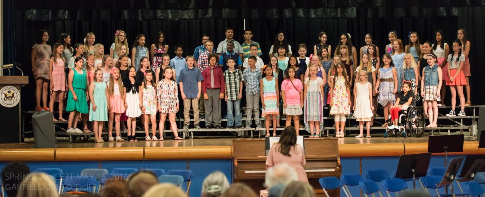Garfield Choir at their spring concert May 16, 2016